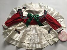 marthas miniatures dress Satin red plaid green white navy pageant holiday dress