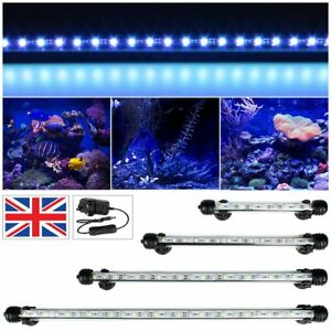 Top Aquarium Fish Tank Submersible LED Light SMD Blue Strip Light Bar Lamp Light