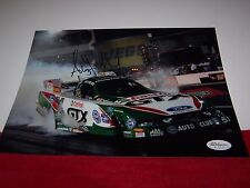 ASHLEY FORCE Signed NHRA FUNNY CAR DRAG RACING 8x10 PHOTO 2 JSA CERTIFIED