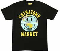 Chinatown Market Smiley Globe Ball Black T-Shirt Size M L XL 2XL NEW WITH TAGS
