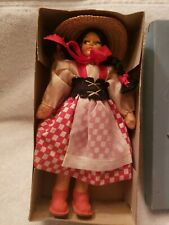 """Vintage Old Girl 6"""" Doll Antique Beautiful Painted Face Collectable Toy Spanish"""