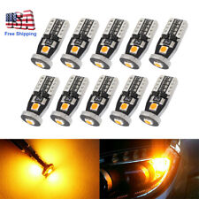 10x T10 168 194 W5W 3SMD LED Car Amber CANBUS Error Free Wedge Side Light Bulb