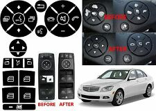 Replacement Window Switch & Steering Wheel Button Stickers For W204 Mercedes New