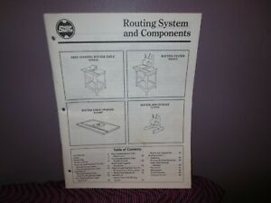 Shopsmith Router System and Components Manual 555414 515489 555413 515702 Table