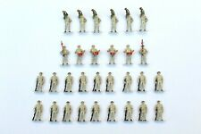 More details for 30 x soldiers on guard bugle & drum players painted figures ho gauge 1/87 b1