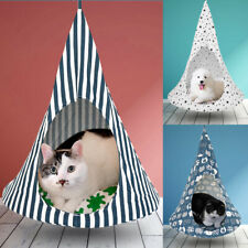 Cat Hammock Summer Cat Cage Swing Hanging Bed Conical Tent Pet Dog Rat House S M