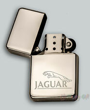 ENGRAVED lighter JAGUAR  design  IN METAL TIN STAR Petrol Personalised