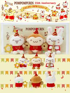 Japan Sanrio Store Pompompurin 25th Plush SET TOTAL3 characters Nico Nico March!
