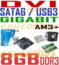 COMBO AMD FX-6100 SIX CORE CPU+8GB DDR3 RAM+MSI SATA6 USB3 DVI AM3+Motherboard