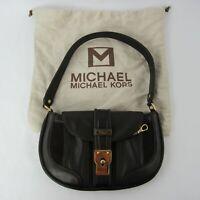 MICHAEL Michael Kors Genuine Leather Baguette Shoulder Bag Purse Mini Handbag