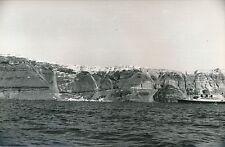 ÎLE DE SANTORIN c. 1935 -Vue depuis la Mer Bateau de Croisière  Grèce - DIV 6608
