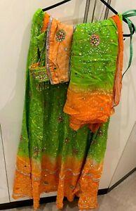 Asians Women Indian/Pakistani Designer Bollywood Bandhani Lehenga Chaniya Choli