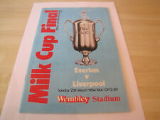 1984 Everton vs Liverpool Milk Cup Final Football Programme