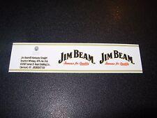 JIM BEAM BOURBON Strip Logo STICKER decal craft beer brewing brewery