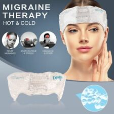 Migraine Ice Pack Head Wrap Adjustable Headache Gel Bead Pain Relief Cold Pack