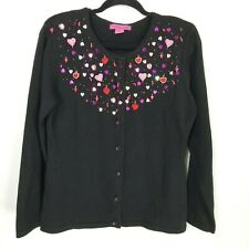 Bobbie Bell Medium beaded sweater cardigan hearts valentines day sequin holiday