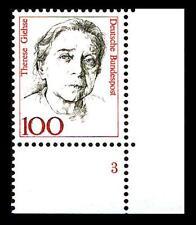 BUND Frauen  100 Pf.** postfrisch, Mi. 1390, Eckrand u.r. Formnummer 3