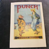 Vintage Book Print - Punch Cover Reprint - Summer 1930