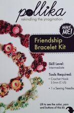 Pollika Crochet Friendship Bracelet Kit - Green Overdyed Pearl Cotton