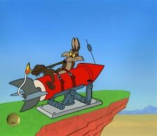 """""""Fast and Furryous"""" Wile E. Coyote cel.  L.E. / 200 by Chuck Jones"""