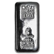 5 oz Silver Bar - Republic Metals Corporation (Cast)