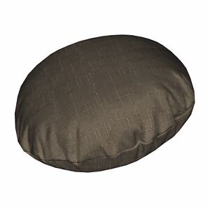 Qh13n Middle Brown Thick Cotton Blend Round Cushion Cover/Pillow Case Custom Siz