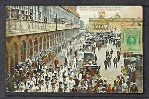 PERÚ 07-LIMA -Plaza de Armas Regreso de los marineros Americanos de la plaza de