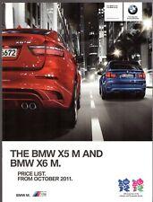 BMW X5M & X6M Specification 2011-12 UK Market Brochure