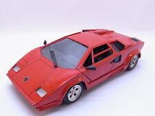 70865   Polistil Lamborghini Countach 5000 in rot ca. 23 cm Modellauto 1:18