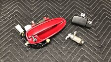Red Acura Integra Passenger side Door Handle w/ trunk glove box cylinder OEM