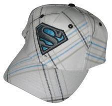 Dc Comics Superman Weiß Gestreift Bioworld Baseballkappe