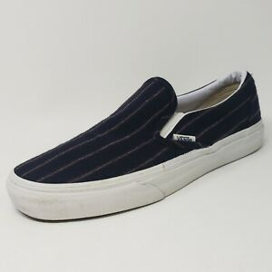 Vans Suit Striped Slip Ons Mens 7 Womens 8.5 Unisex Sneakers Shoes