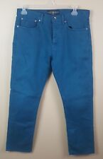 LUCKY BRAND 121 Heritage Slim Men's Jeans 36X32 Blue Straight Leg Button Fly