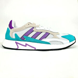 Adidas Mens 12 Originals Tresc Run White Purple Teal Hornets Shoes EH1352