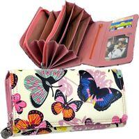 Große Damen Geldbörse Brieftasche Schmetterling J.JONES Geldbeutel Portemonnaie