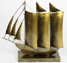 Handmade Metal Sailing Ship Ornament Sculpture 36 cm x 36 cm