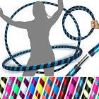 PRO Hula Hoops (Ultra-Grip/Glitter Deco) Weighted TRAVEL Hoola Hoop (100cm/39')