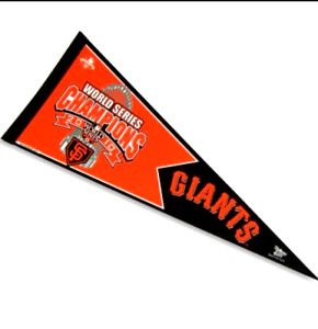 2010 SF San Francisco Giants Orange World Series Champions Pennant Official