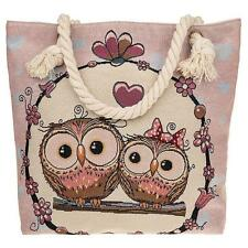 Traditional Tapestry Owl Tote Bag With Love Hearts 274255