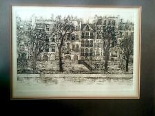 """Signed & Numbered Cuca Romley """"Ile Saint-Louis"""" Framed Under Glass 150/150"""