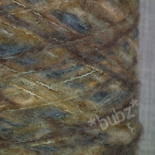 SPACE DYED SOFT MOHAIR WOOL BLEND 4 PLY YARN 350g CONE 7 BALLS BROWN BLUE ORANGE