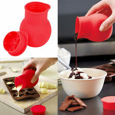 Hot Silicone Chocolate Melting Pot Mould  Milk Baking Pouring Pan Butter Tools