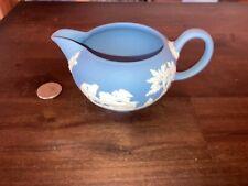 Wedgewood Blue Jasperware Creamer( no glaze interior)
