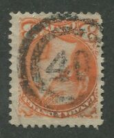 """CANADA #41 USED SMALL QUEEN 2-RING NUMERAL CANCEL """"40"""" (.07)"""