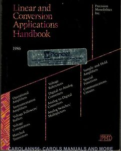 PMI Data Book 1986 Linear and Conversions Applications Handbook
