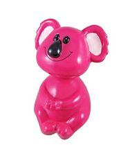 Hot Pink Koala Bear Bobblehead Coin Piggy Bank Retired Nib KingMax