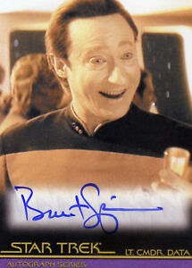 QUOTABLE STAR TREK MOVIES AUTOGRAPH CARD - BRENT SPINER / DATA TNG A100