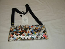 COSMIC BOBBINS COLLECTIBLE SHOULDER BAG/NWT-UNIQUE-MADE OF RECYCLED MAGAZINES