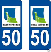 STICKERS AUTOCOLLANTS DEPARTEMENT 50 PLAQUE D IMMATRICULATION AUTO normandie