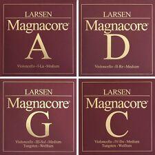 Larsen MAGNACORE 4/4 Cello Saiten SATZ in Stärke medium, stark, MIX 1, MIX 2